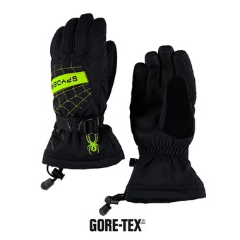 Gants de ski garçon OVERWEB black/bryte green