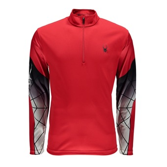 Maillot ML 1/2 zip homme WEBSTRONG red/black/cirrus