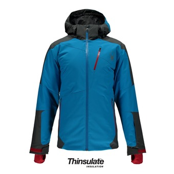 Veste de ski homme CHAMBERS electric blue/polar/red
