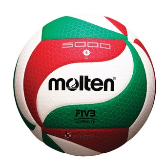 Balón de voleibol V5M5000 blanco/rojo/verde