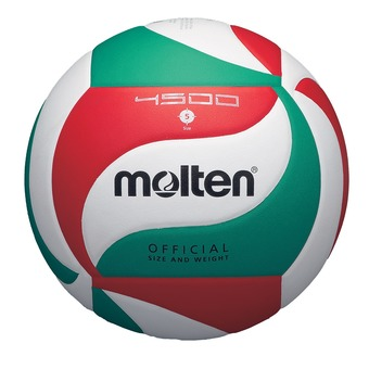 Balón de voleibol V5M4500 blanco/rojo/verde
