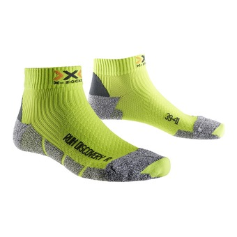 Calcetines de running DISCOVERY 2.1 green lime/grey