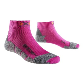 Calcetines de running mujer DISCOVERY 2.1 lady fushia / grey