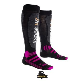 Chaussettes de ski femme SKI ALLROUND black / purple