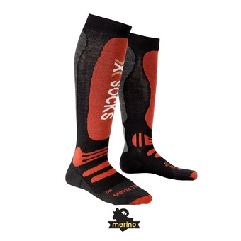 Chaussettes de ski homme SKI ALLROUND black / red