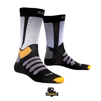 Calcetines de esquí hombre XC RACING black/grey melange