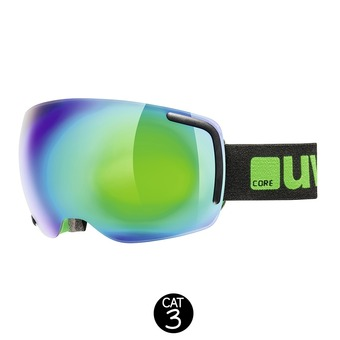 Gafas de esquí BIG 40 FM black green mat/mirror green clear