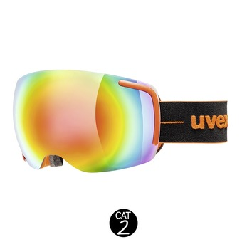 Masque de ski BIG 40 FM black orange mat/mirror rainbow clear