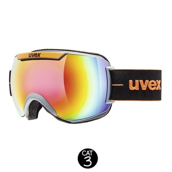 Gafas de esquí DOWNHILL 2000 FM coal orange mat/mirror rainbow rose