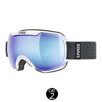 Gafas de esquí DOWNHILL 2000 FM white/mirror blue clear