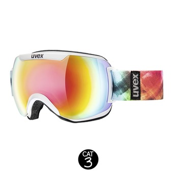 Gafas de esquí DOWNHILL 2000 FM white/mirror rainbow rose