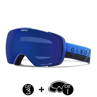 Gafas de esquí CONTACT blue/black slash-grey cobalt - persimmon boost - 2 pantallas