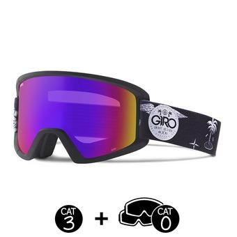 Gafas de esquí SEMI black fresh hesh - rose spectrum + yellow  - 2 pantallas