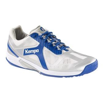 Chaussures handball homme FLY HIGH WING LITE gris argent/bleu roi