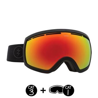 Masque de ski EG2.5 matte black/brose red chrome+light green - 2 écrans