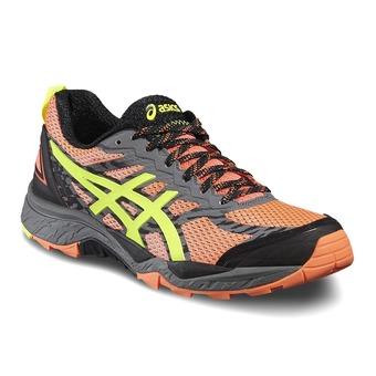 Zapatillas de trail mujer GEL FUJITRABUCO 5 flash coral/safety yellow/black