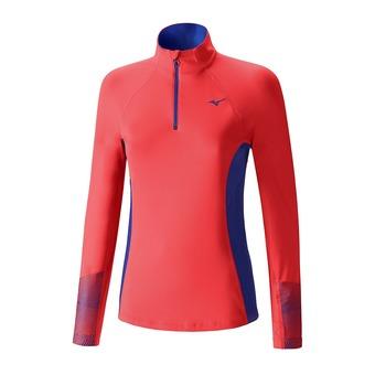 Camiseta mujer WARMALITE PHENIX fiery coral/dazzling blue