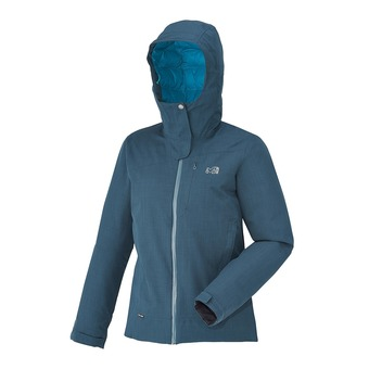 Veste à capuche femme LOFOTEN DOWN BLEND heather blue/deep horizon