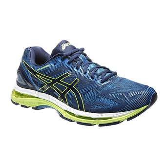 Zapatillas running hombre GEL-NIMBUS 19 indigo blue/safety yellow/electric blue