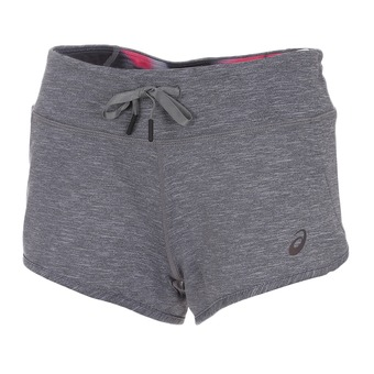 Short femme REVERSIBLE dark grey heather/ carpe diem
