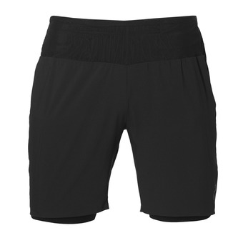 Short hombre 2-N-1 performance black