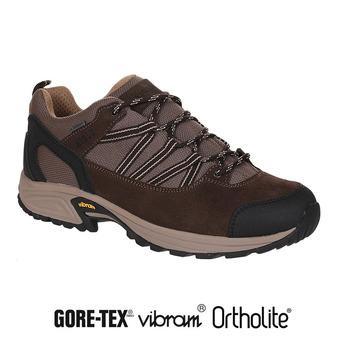 Zapatillas de senderismo hombre MOOVEN LOW GTX dark brown/beige