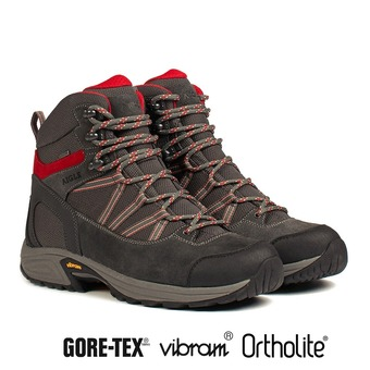 Chaussures de randonnée homme MOOVEN MID GTX dark grey/red