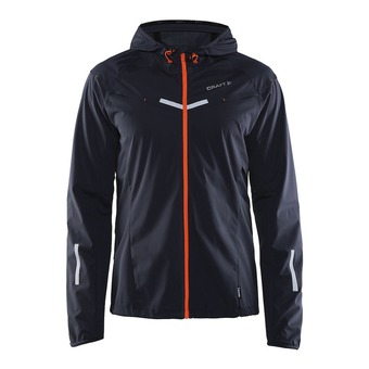 Chaqueta impermeable hombre EDGE WEATHER gravel/flourange