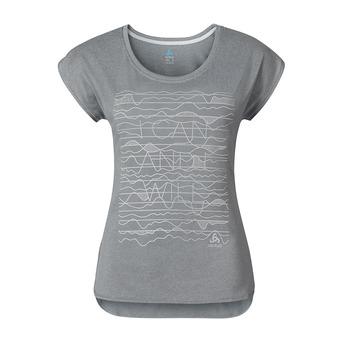Camiseta mujer TEBE grey melange