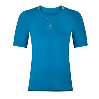 Camiseta hombre CERAMICOOL SEAMLESS blue jewel/safety yellow