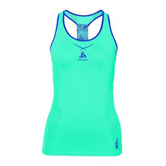 Camiseta de tirantes mujer CERAMICOOL SEAMLESS blue radiance/spectrum blue