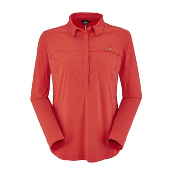 Chemise ML femme BLYDE spicy coral plain