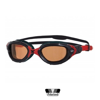 Gafas de natación polarizadas PREDATOR FLEX ULTRA black/red/copper