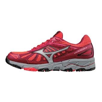 Zapatillas de trail mujer WAVE MUJIN 3 diva pink/silver/persian red