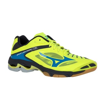 Chaussures volley homme WAVE LIGHTNING Z3 safety yellow/atomic blue/dark shadow