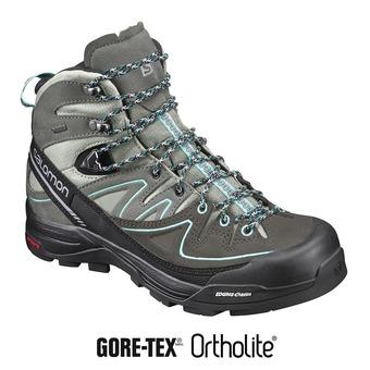 Zapatillas de senderismo mujer X ALP MID LTR GTX®  shad/castor gray/aruba blue