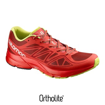 Chaussures running homme SONIC AERO brique-x/radiant red/gecko green
