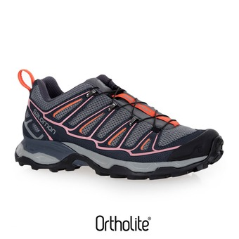 Zapatillas de senderismo mujer X ULTRA 2  quiet shade/ombre blue/blush