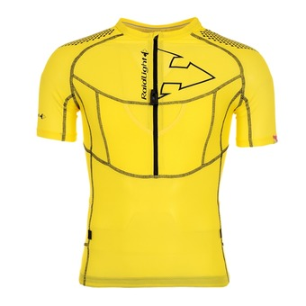 Maillot MC 1/2 zip homme XP FIT 3D yellow/black