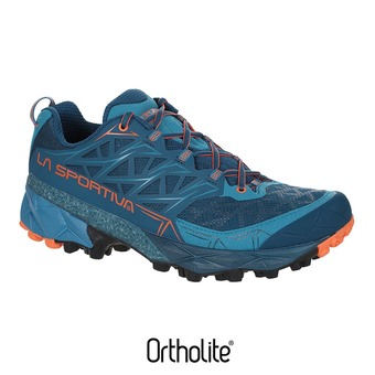 Zapatillas de trail hombre AKYRA ocean/flame