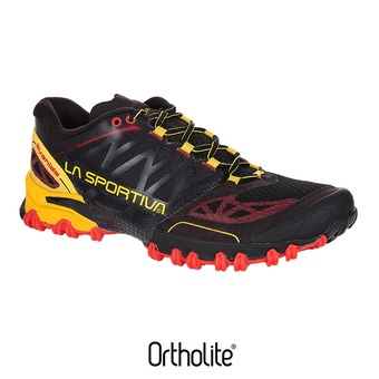 Zapatillas de trail hombre BUSHIDO black/yellow