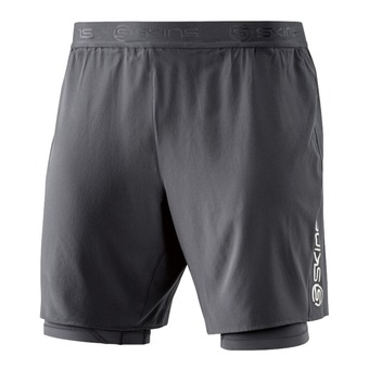 Short 2 en 1 homme SUPERPOSE DNAMIC tarmac