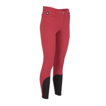 WOMAN BREECHES WITH X-GRIP KNEE PATCH ASH DARK RED