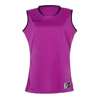 Camiseta mujer MOVE violeta/negro