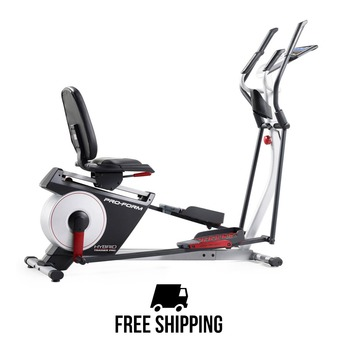 Vélo 2 en 1 elliptique/semi-allongé HYBRID TRAINER PRO