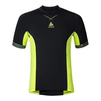 Camiseta hombre CERAMICOOL PRO black/safety yellow
