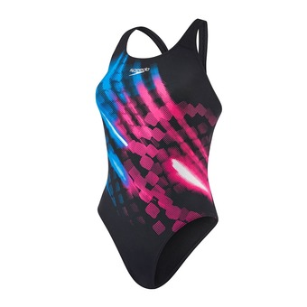 Maillot de bain 1 pièce femme IGNITOR PLACEMENT POWERBACK black/pink