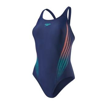 Bañador mujer LIGHTBEAM PLACEMENT POWERBACK blue