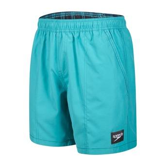 Short de bain homme CHECK TRIM LEISURE green/blue