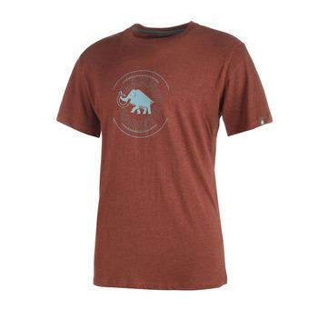 Camiseta hombre GARANTIE maroon melange